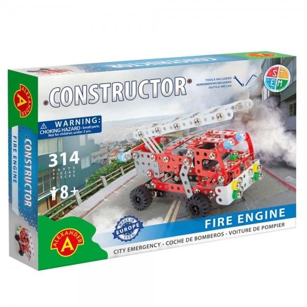 Metall-Konstruktionsspielzeugs Feuerwehrwagen