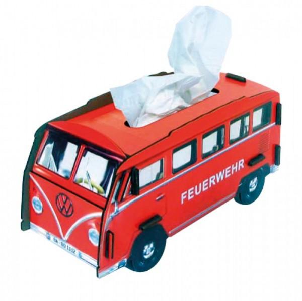 Tissue-Box Feuerwehrauto