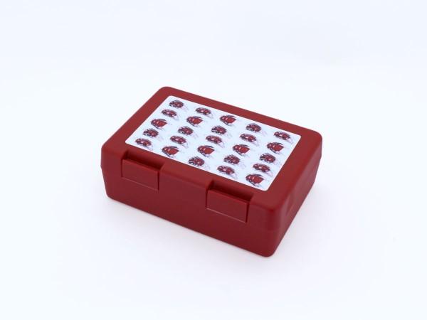 Brotzeitbox rot mit verschiedenen Motiven