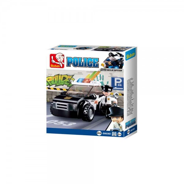 Konstruktionsspielzeug Polizeifahrzeug