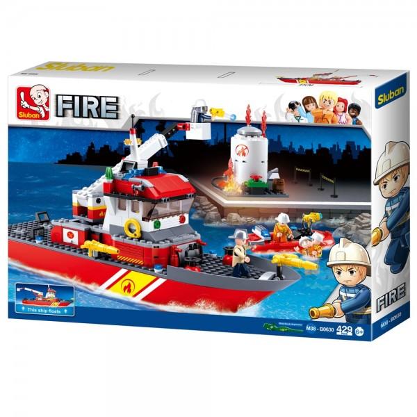 Konstruktionsspielzeug Löschboot mit Öltank