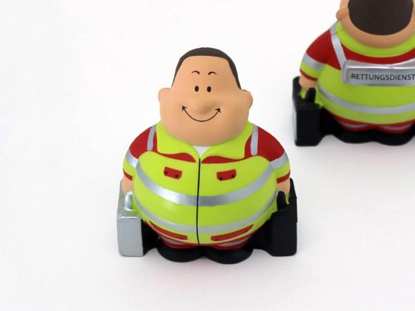 """Knautschfigur """"Notfall-Bert"""", leuchtgelb"""