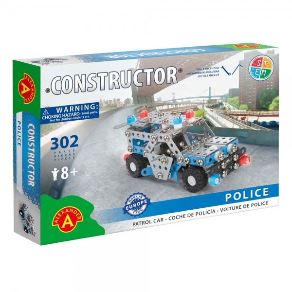 Metall-Konstruktionsspielzeug Polizeiwagen