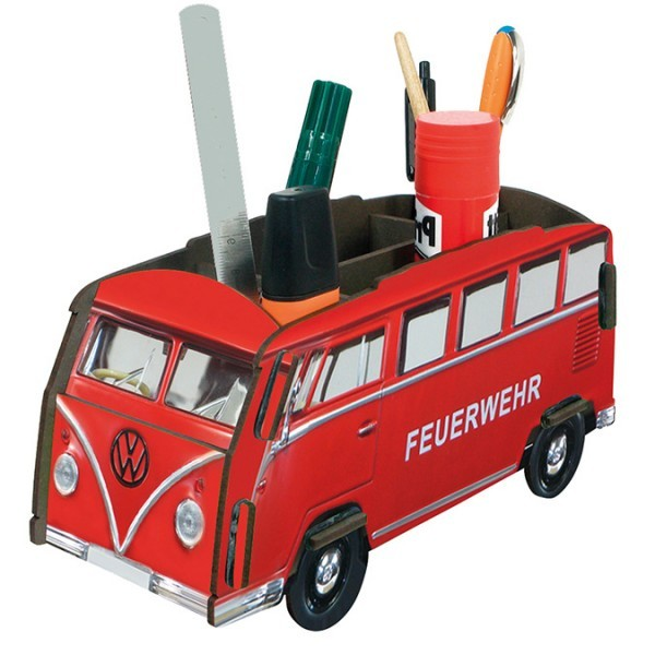 "VW Bulli ""Feuerwehrauto"" Stiftehalter"
